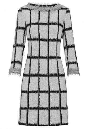A-Linien Kleid Damiella mit Karo-Print   Ana Alcazar