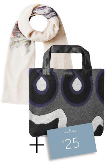 Geschenkset Marsello: Schal, Shopper & 25€ Gutschein