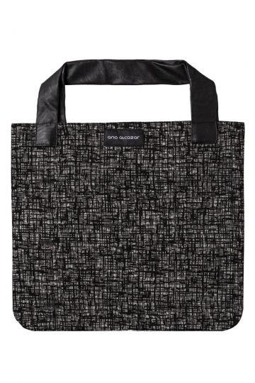 Grafik-Print Shopper Dallas in Grau | Ana Alcazar