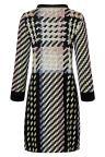 Rear view of Ana Alcazar Sixties Dress Velmoroy Black