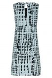 Rückansicht von Hellblau Limitiertes Grafik-Kleid Glima