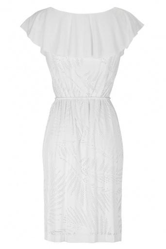 Ana Alcazar Volant Dress White Fareta