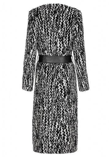 ana alcazar Long Fake Fur Coat Albrena