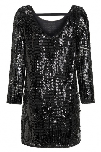 Ana Alcazar Black Label Sequin Dress Juveny