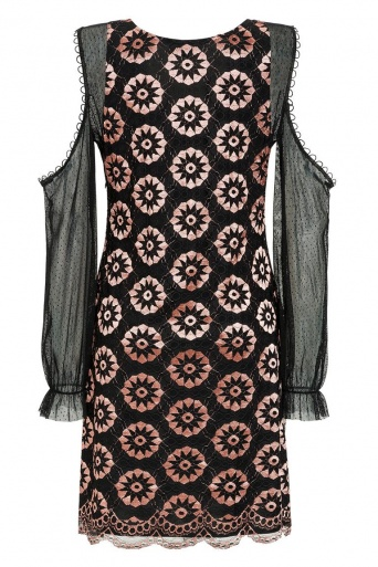 Ana Alcazar Lace Cocktail Dress Leonesty
