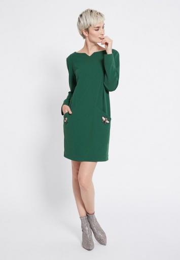 Ana Alcazar Wide Dress Rosmy Green