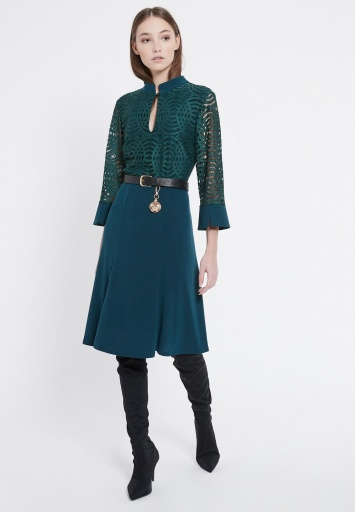 Ana Alcazar Mix Dress Vabelay Green