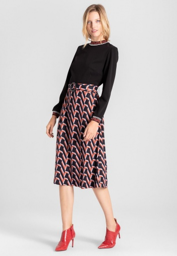 Ana Alcazar Mix Dress Vaburany Brown
