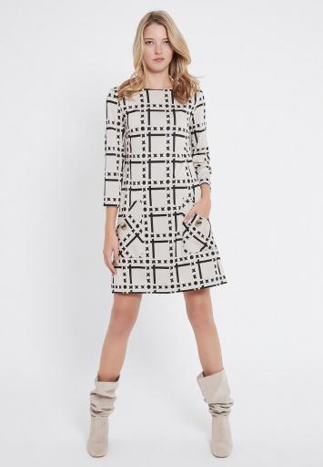 Ana Alcazar Pocket Dress Vafusea White