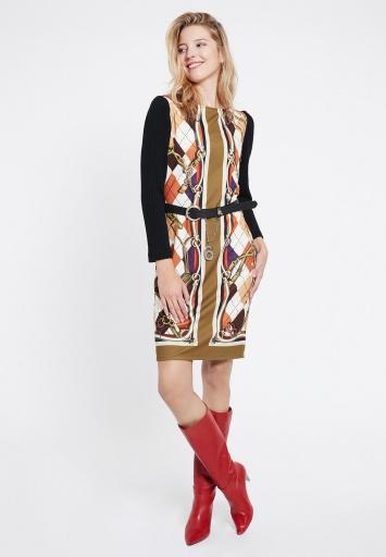 Ana Alcazar Mix Kleid Vorosa