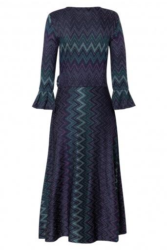 Ana Alcazar Wrap Dress Vulboa Blue