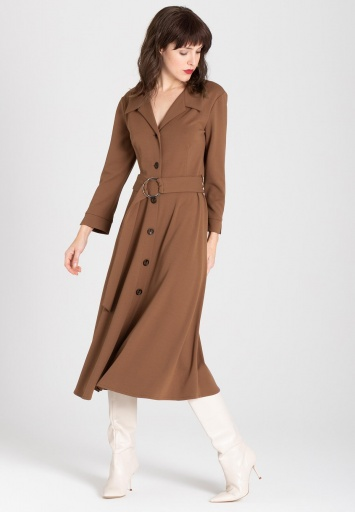 Ana Alcazar Blouse Dress Walisa Brown