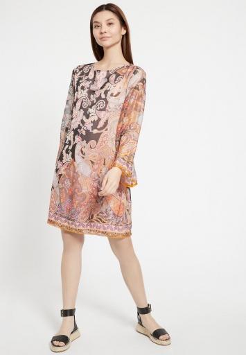 Ana Alcazar Silk Tunic Zezis Dark