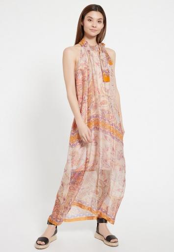 Ana Alcazar Silk Maxi Dress Zezei