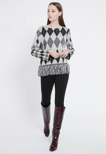 Ana Alcazar Long Sleeve Top Vekana Grey