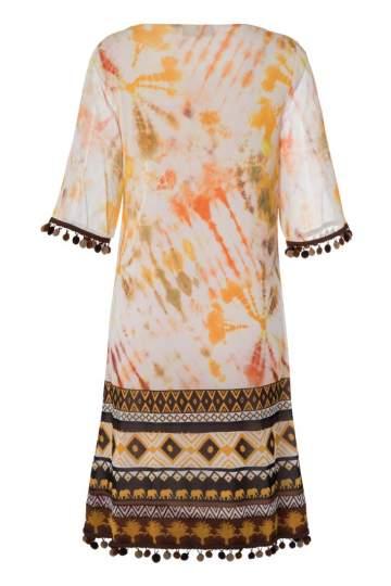 Rückansicht von Ana Alcazar Limited Edition Kurzarmkleid Nakea