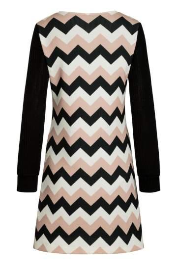 Rückansicht von Ana Alcazar LIMITED A-Linien-Kleid Pashya Black