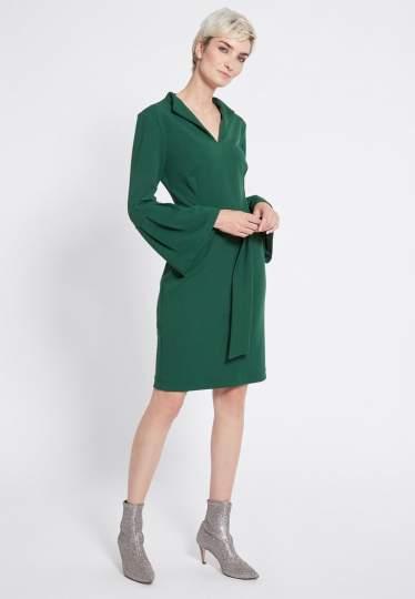 Rückansicht von Ana Alcazar Gürtel Kleid Romys Grün