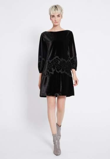 Rear view of Ana Alcazar Velvet Dress Revita