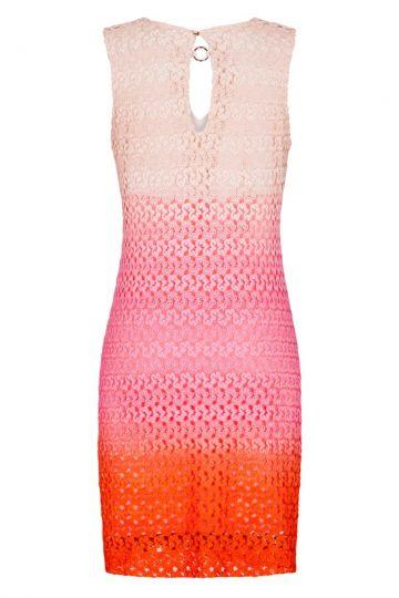 Rückansicht von Ana Alcazar A-Linien Kleid Pink Fanny