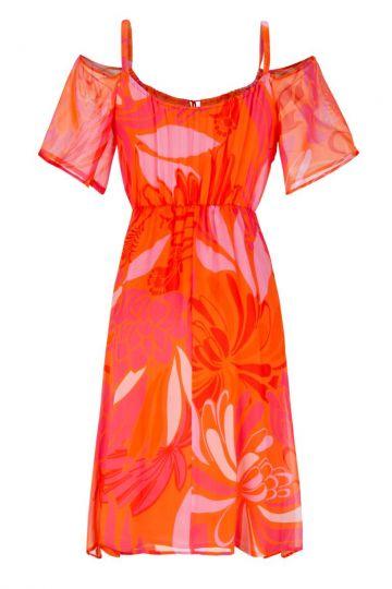 Rückansicht von Ana Alcazar Schulterfreies Kleid Giola