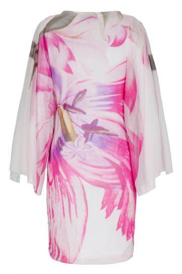 tunikakleid beabell mit blumenprint in rosa ana alcazar. Black Bedroom Furniture Sets. Home Design Ideas