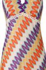 Vorderansicht von ana alcazar Buntes A-Linien Kleid Ayoris  angezogen an Model