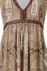 Vorderansicht von Ana Alcazar Langes Kleid Anarosy  angezogen an Model