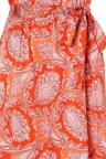 Vorderansicht von Ana Alcazar Maxi Kleid Tefame Rot  angezogen an Model