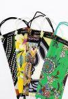 Vorderansicht von Ana Alcazar 5er Pack Stoffmasken Gianny  angezogen an Model