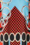 Vorderansicht von ana alcazar T-Shirt Kleid Alizesy  angezogen an Model