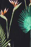 Detailansicht von Dschungelprint A-Linien Kleid Fideley