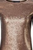 Detailansicht von Paillettentop Tetjabes in Metallik Kupfer