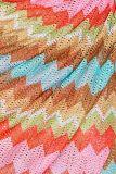 Detailansicht von Buntes Limitiertes Wickelkleid Glorrsi