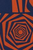 Detailansicht von Langarmkleid Devonby in Blau&Braun | Ana Alcazar