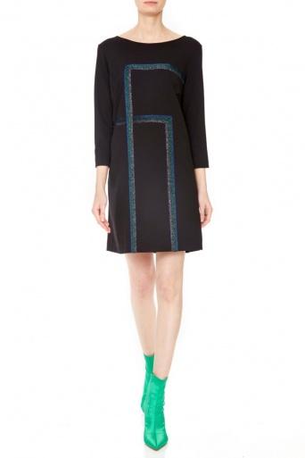 Ana Alcazar Lurex Dress Penela