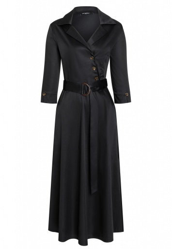 Ana Alcazar Wrap Dress Zepy Black