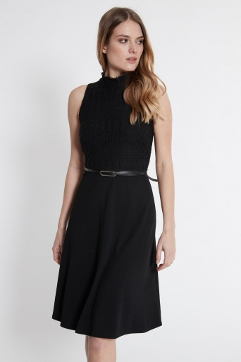 Ana Alcazar Mix Dress Sanoba Black