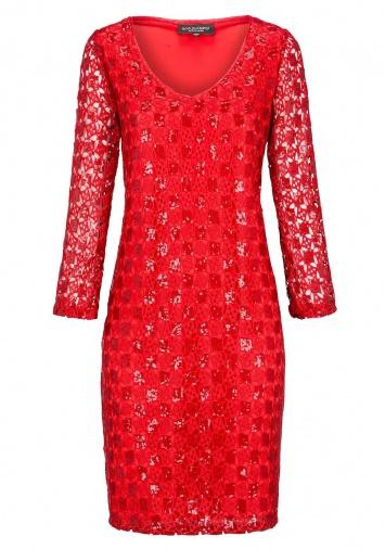 Ana Alcazar Black Label Tunic Dress Red-Lace