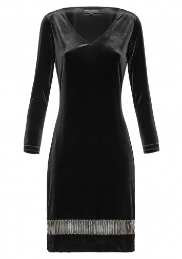 Ana Alcazar Velvet Dress Emonoa