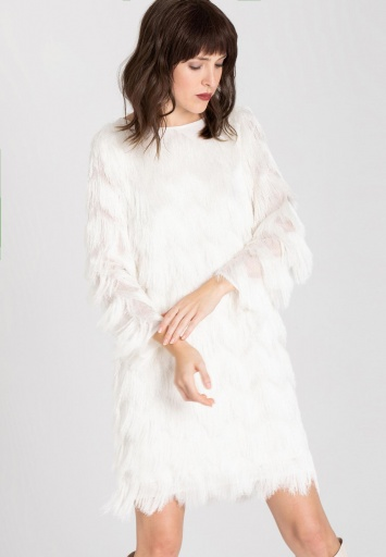 Ana Alcazar Black Label Fringes Dress Wyssle