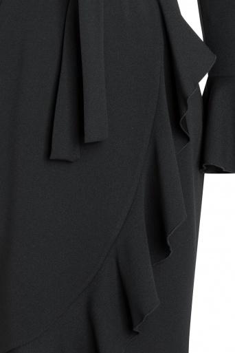 Ana Alcazar Wrap Dress Romyla Black