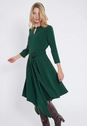 Ana Alcazar Gürtel Kleid Vafetos Grün