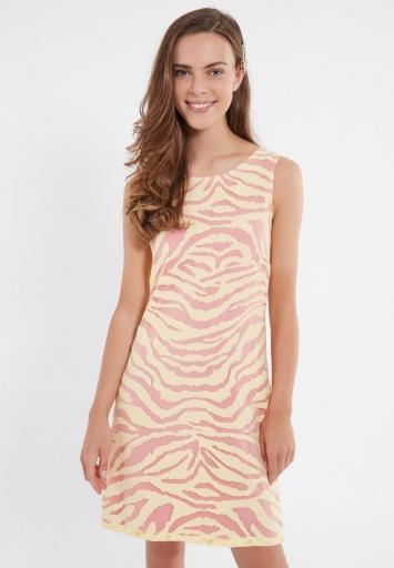 Ana Alcazar A-Shaped Dress Zapya Yellow-Pink