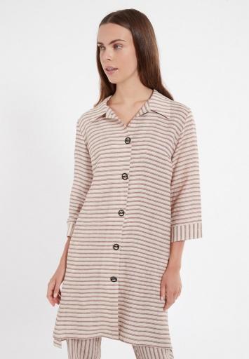 Ana Alcazar Blouse Dress Zemla Dark-Beige