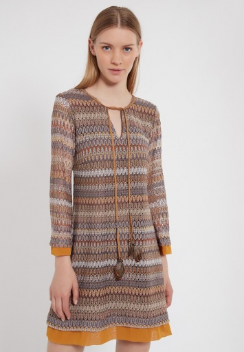 Ana Alcazar Long Sleeve Dress Zirea