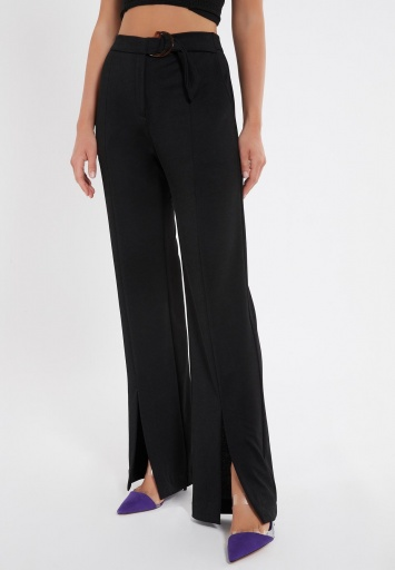 Ana Alcazar Long Trousers Zubas Black