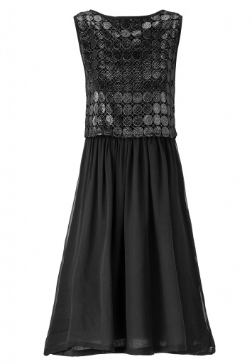 ana alcazar Black Label Chiffonkleid No. 65