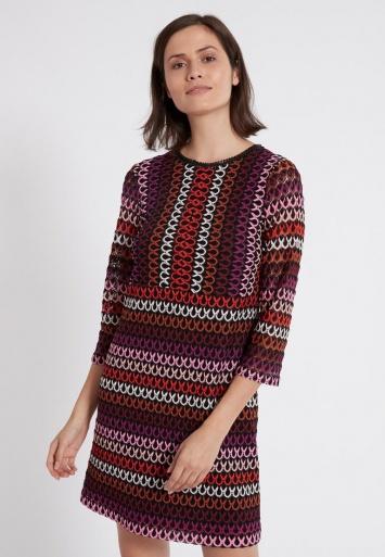 Ana Alcazar A-Linien-Kleid Plyrawe Bordeaux