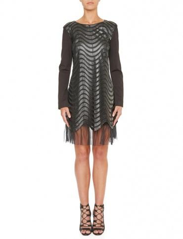 Ana Alcazar Leather Optic Dress Kewave